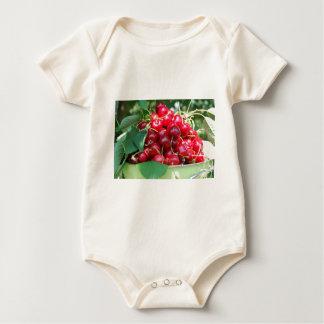 Fruit Cherries Sweet Dessert Destiny Gifts Baby Bodysuit