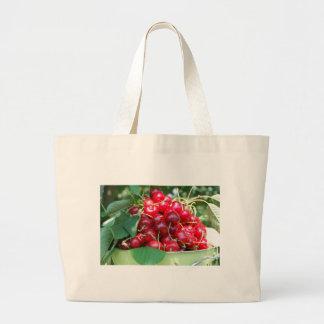 Fruit Cherries Sweet Dessert Destiny Gifts Canvas Bags