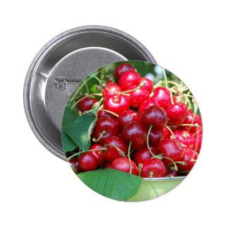 Fruit Cherries Sweet Dessert Destiny Gifts Pinback Button