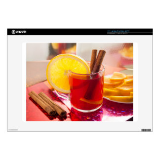 """Fruit citrus tea with cinnamon and orange decal for 15"""" laptop"""