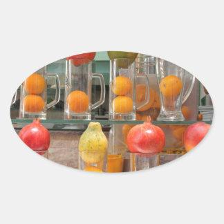 fruit cocktail oval sticker