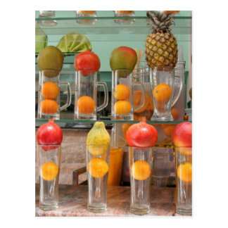 fruit cocktail postcard
