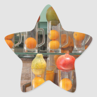 fruit cocktail star sticker