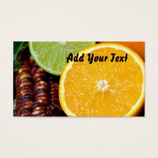 Fruit & corn business card