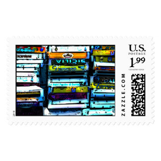 Fruit crate postage stamp