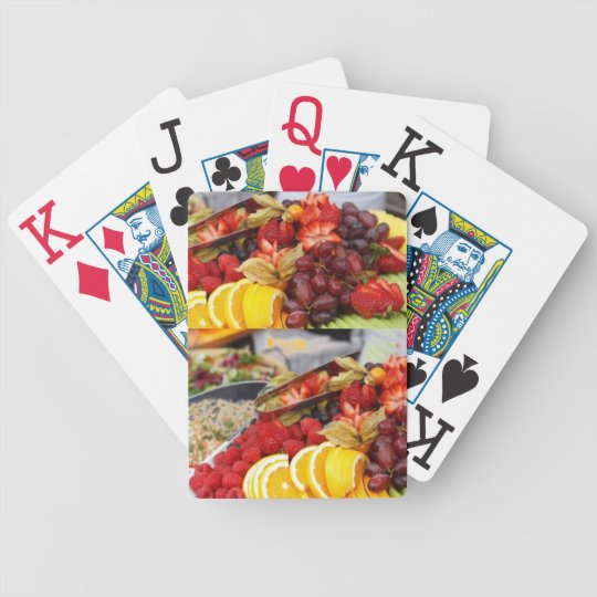 fruit deck bicycle playing cards