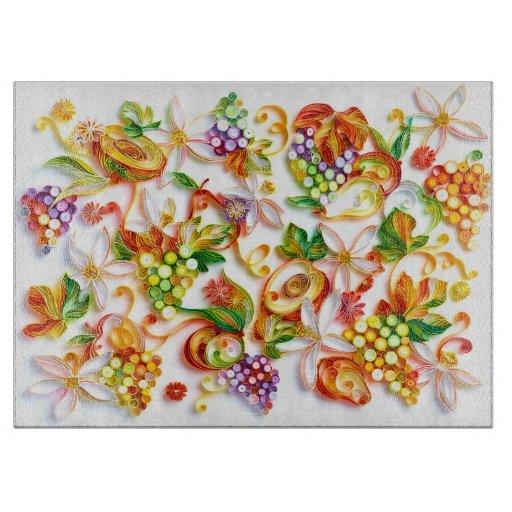 Fruit decorative glass chopping board zazzle - Decorative tempered glass cutting boards ...