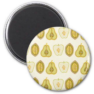 Fruit Design Apples Pears Avocados Kitchen Gifts 2 Inch Round Magnet