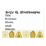 Fruit Design Apples Pears Avocados Kitchen Gifts Large Business Cards (Pack Of 100)