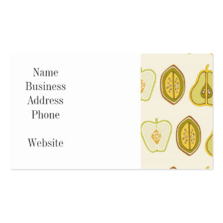 Fruit Design Apples Pears Avocados Kitchen Gifts Business Card