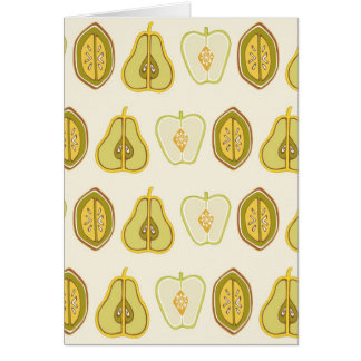 Fruit Design Apples Pears Avocados Kitchen Gifts Card
