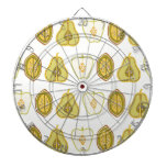 Fruit Design Apples Pears Avocados Kitchen Gifts Dartboard
