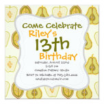 Fruit Design Apples Pears Avocados Kitchen Gifts 5.25x5.25 Square Paper Invitation Card