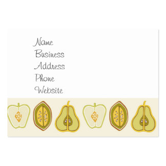 Fruit Design Apples Pears Avocados Kitchen Gifts Large Business Card