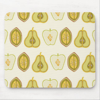 Fruit Design Apples Pears Avocados Kitchen Gifts Mouse Pad