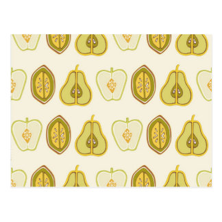 Fruit Design Apples Pears Avocados Kitchen Gifts Postcard