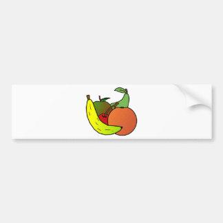 fruit design bumper sticker