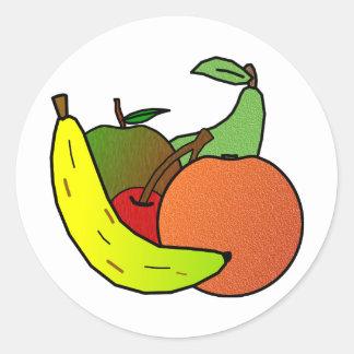 fruit design classic round sticker