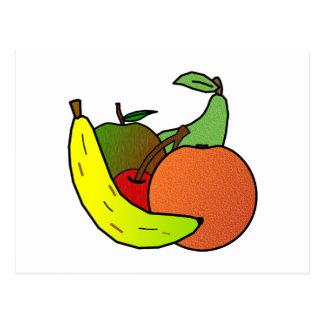 fruit design postcard