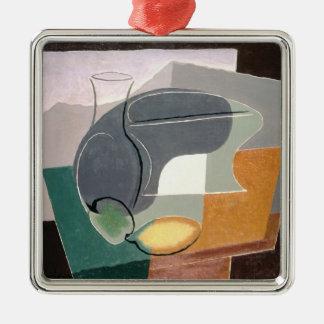 Fruit-dish and carafe, 1927 metal ornament