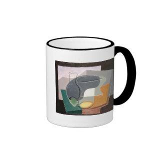 Fruit-dish and carafe, 1927 coffee mugs