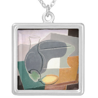 Fruit-dish and carafe, 1927 square pendant necklace