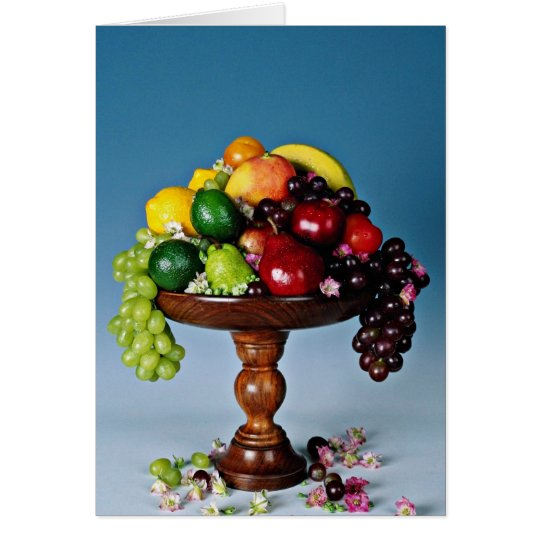 Fruit display  flowers card