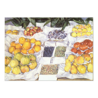 Fruit Displayed on a Stand by Gustave Caillebotte 5x7 Paper Invitation Card