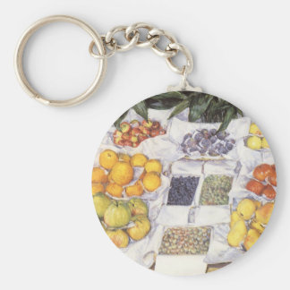 Fruit Displayed on a Stand by Gustave Caillebotte Keychains