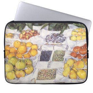 Fruit Displayed on a Stand by Gustave Caillebotte Laptop Computer Sleeve