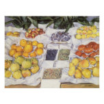Fruit Displayed on a Stand by Gustave Caillebotte Posters
