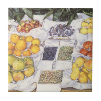 Fruit Displayed on a Stand by Gustave Caillebotte Tile