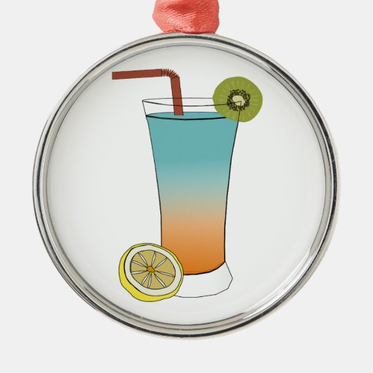 Fruit Drink Sweet Dessert Destiny Food Kiwi Lemon Metal Ornament