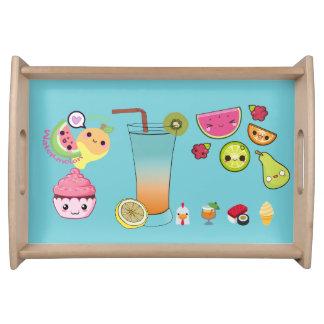 Fruit emoji serving tray