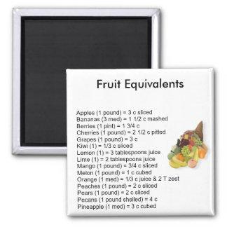 Fruit Equivalents Square Magnet