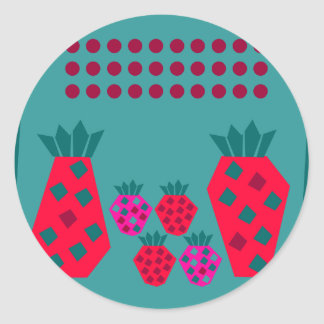 Fruit Family Classic Round Sticker
