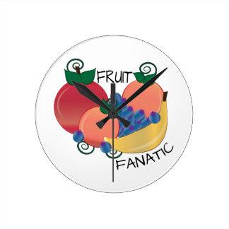 Fruit Fanatic Round Wall Clock