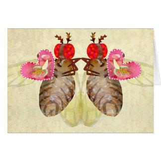 Fruit Flies Exchange Banana Valentines Card