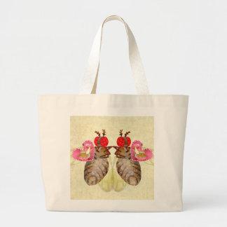 Fruit Flies Exchange Banana Valentines Large Tote Bag