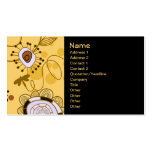 Fruit Flower Cool Cute Girly Retro Floral Double-Sided Standard Business Cards (Pack Of 100)