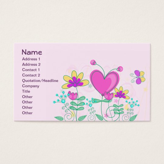 Fruit Flower Cool Cute Girly Retro Floral Business Card