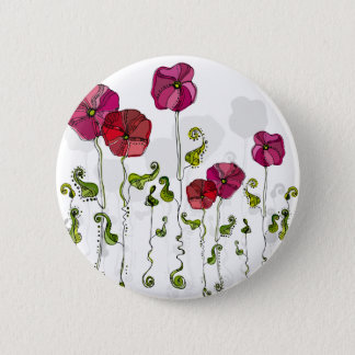 Fruit Flower Cool Cute Girly Retro Floral Button