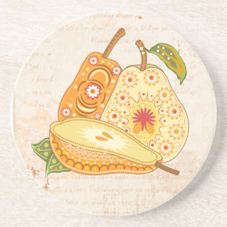 Fruit Flower Cool Cute Girly Retro Floral Drink Coaster
