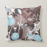 Fruit Flower Cool Cute Girly Retro Floral Throw Pillows