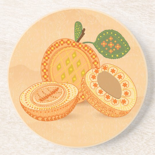 Fruit Flower Cool Cute Girly Retro Floral Sandstone Coaster