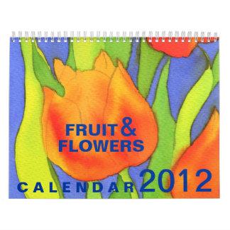 Fruit & Flowers 2012 Calendar - Standard Size