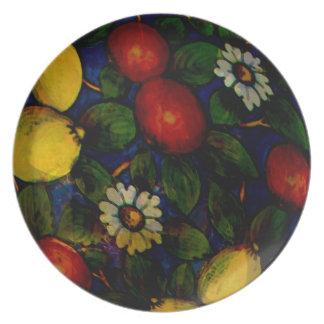Fruit & flowers -italian Design Plate