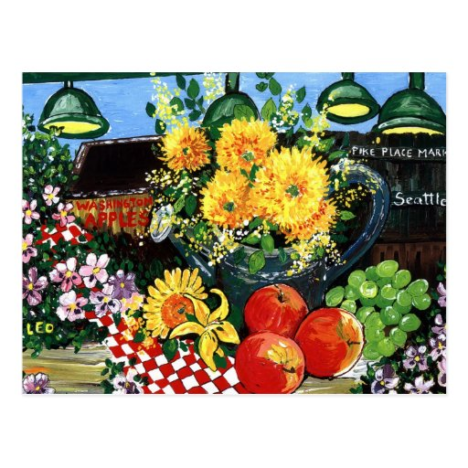 Fruit & Flowers Post Card