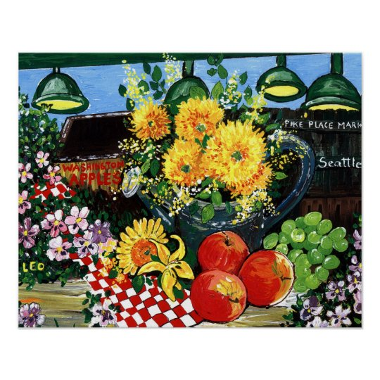 Fruit & Flowers Poster