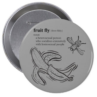 FRUIT FLY 4 INCH ROUND BUTTON